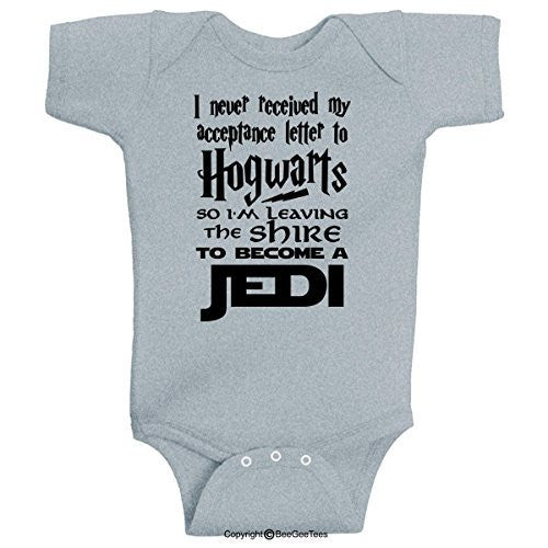 I Never Received My Acceptance Letter Hogwarts Funny Harry Potter Lord of the Rings Star Wars Onesie
