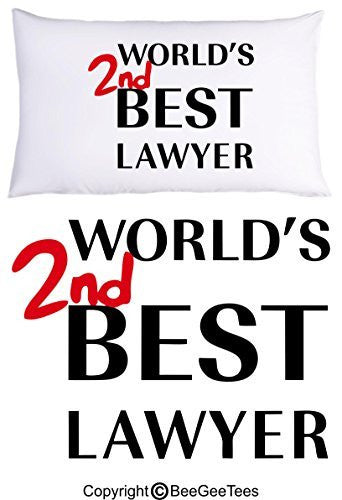 World's 2nd Best Lawyer Better Call Saul Goodman Breaking Bad Funny Pillowcase by BeeGeeTees® (1 Queen Pillowcase)