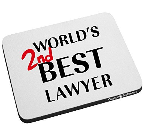 World's 2nd Best Lawyer Better Call Saul Goodman Mouse Pad Funny Office Gift by BeeGeeTees®
