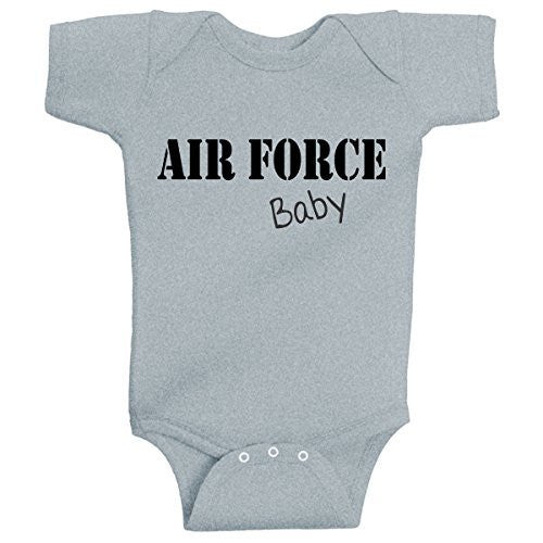 AIR FORCE Baby Infant Bodysuit Onesie Romper Heather Grey by BeeGeeTees®