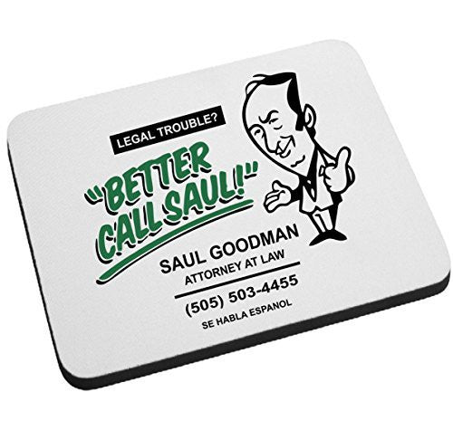 Better Call Saul Goodman Breaking Bad Mouse Pad Funny Lawyer Office Gift by BeeGeeTees®