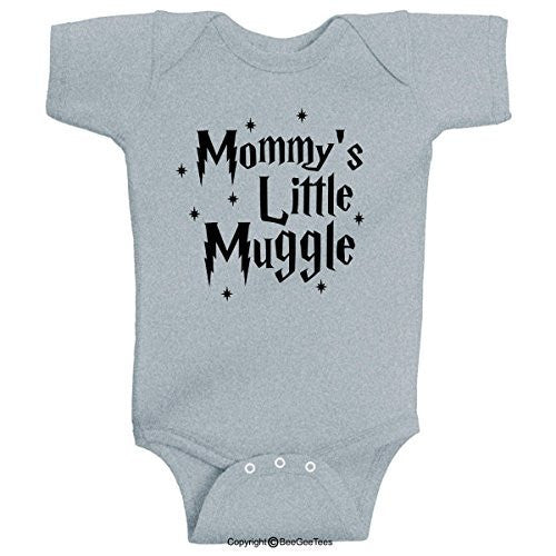 1f48d8ed1 Mommy's Little Muggle Cute Harry Potter Baby Romper Wizard Onesie by  BeeGeeTees®