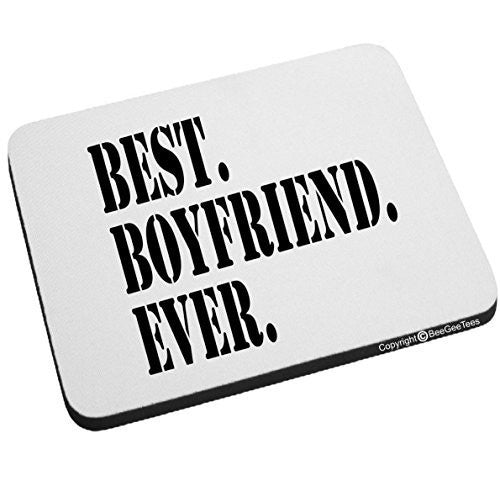 Best Boyfriend Ever Mouse Pad Valentines Day Birthday Gift by BeeGeeTees