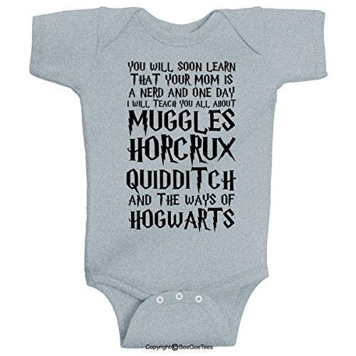 You Will Soon Learn That Your Mom Is A Nerd Harry Potter Onesie by BeeGeeTees®