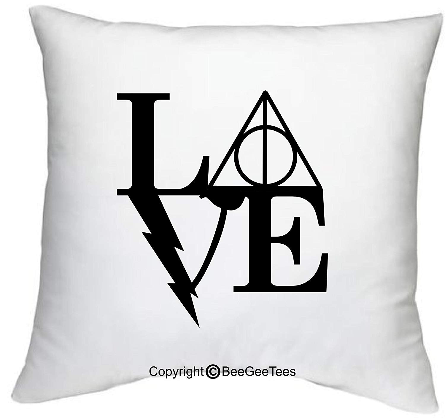 "Love Always Magical Harry Potter Inspired Hogwarts 18"" x 18"" Zippered Wizard Pillow Cover by BeeGeeTees"