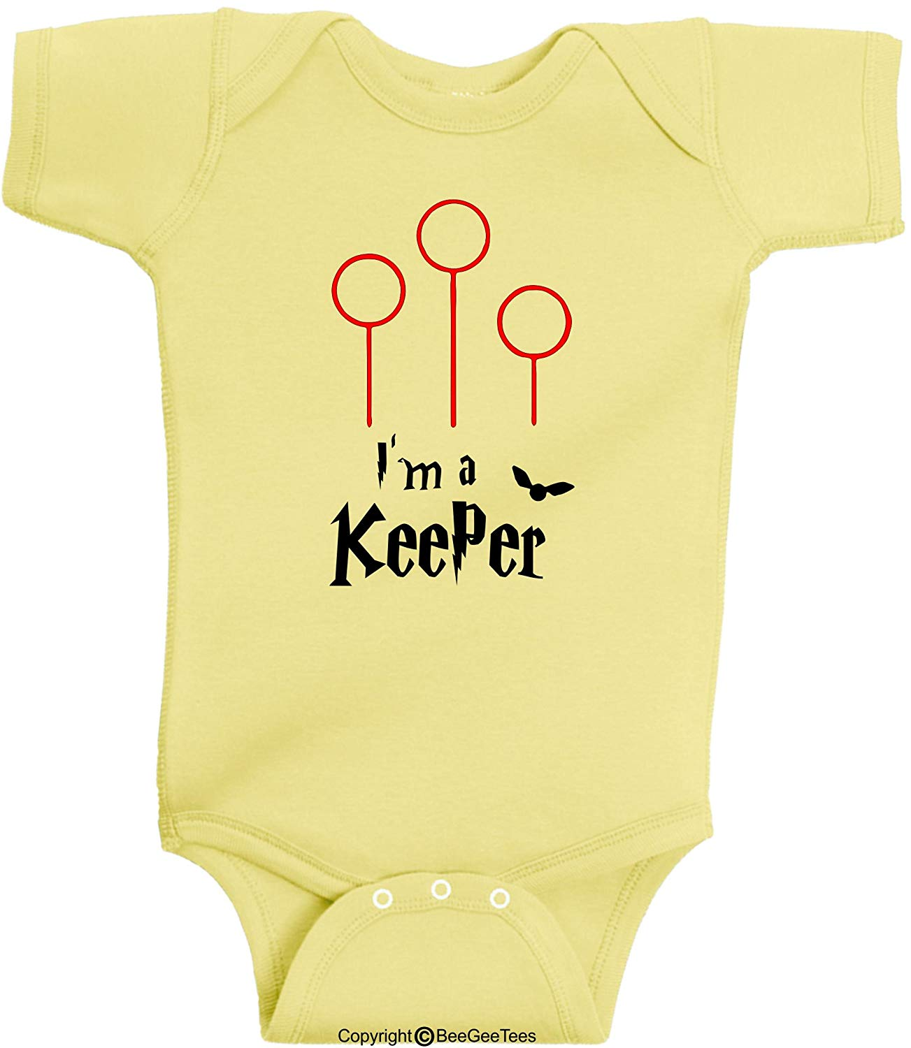 BeeGeeTees I'm A Keeper Harry Potter Inspired Baby Wizard Outfit