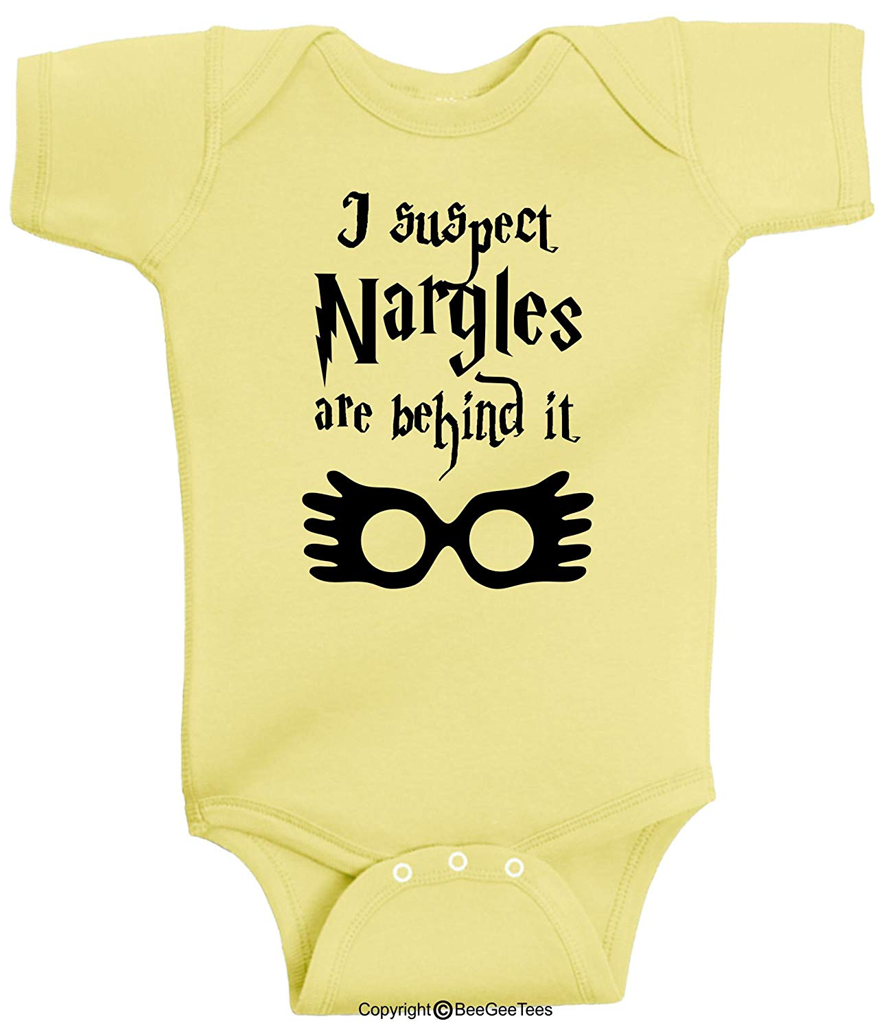 I Suspect Nargles Are Behind It Harry Potter Inspired Baby Bodysuit by BeeGeeTees