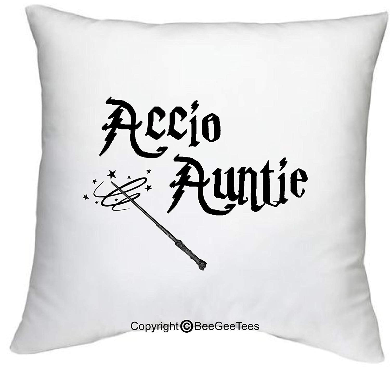 "Accio Auntie Funny Harry Potter Inspired 18"" x 18"" Zippered Pillow Cover by BeeGeeTees"