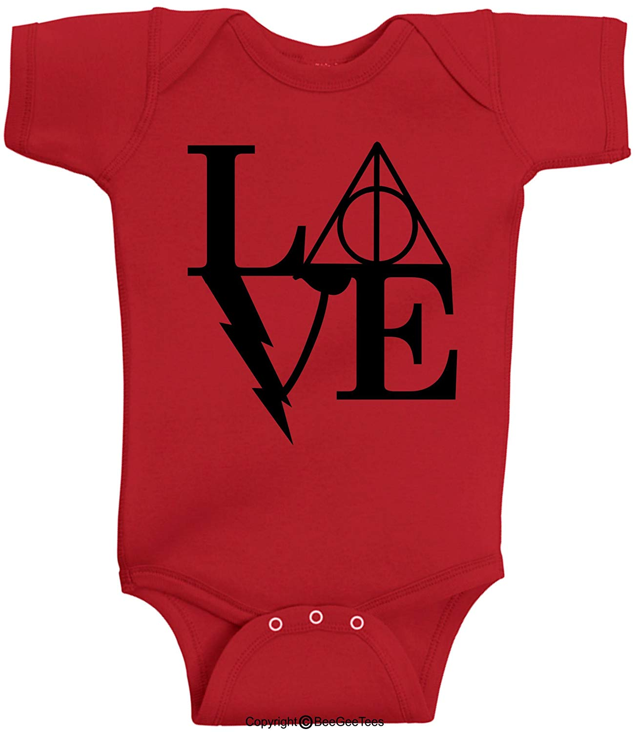 Love Always Magical Wizard Baby Bodysuit Hipster Gift by BeeGeeTees