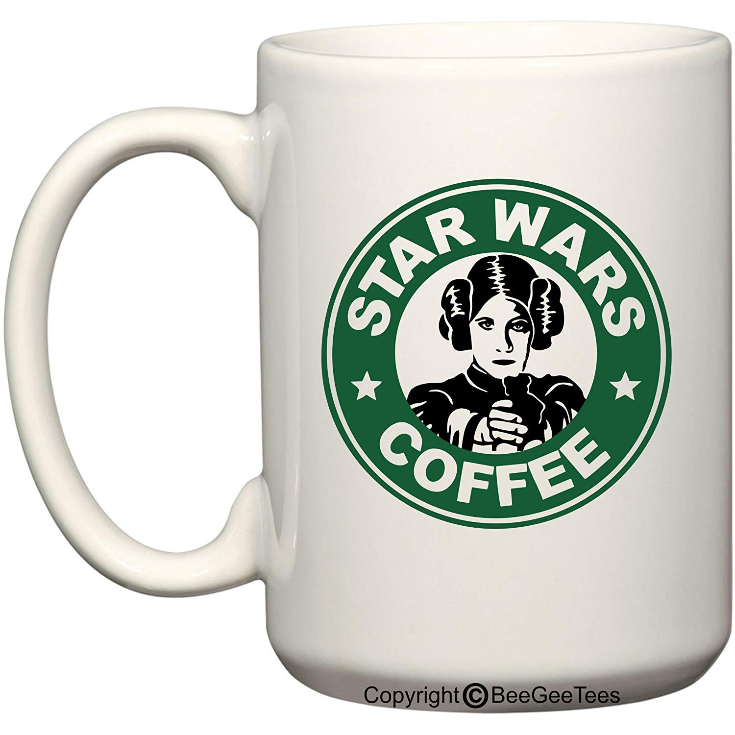 Star Wars Princess Leia Coffee Mug or Tea Cup Funny Starbucks Carrie Fisher 11 oz or 15 oz Cup by BeeGeeTees