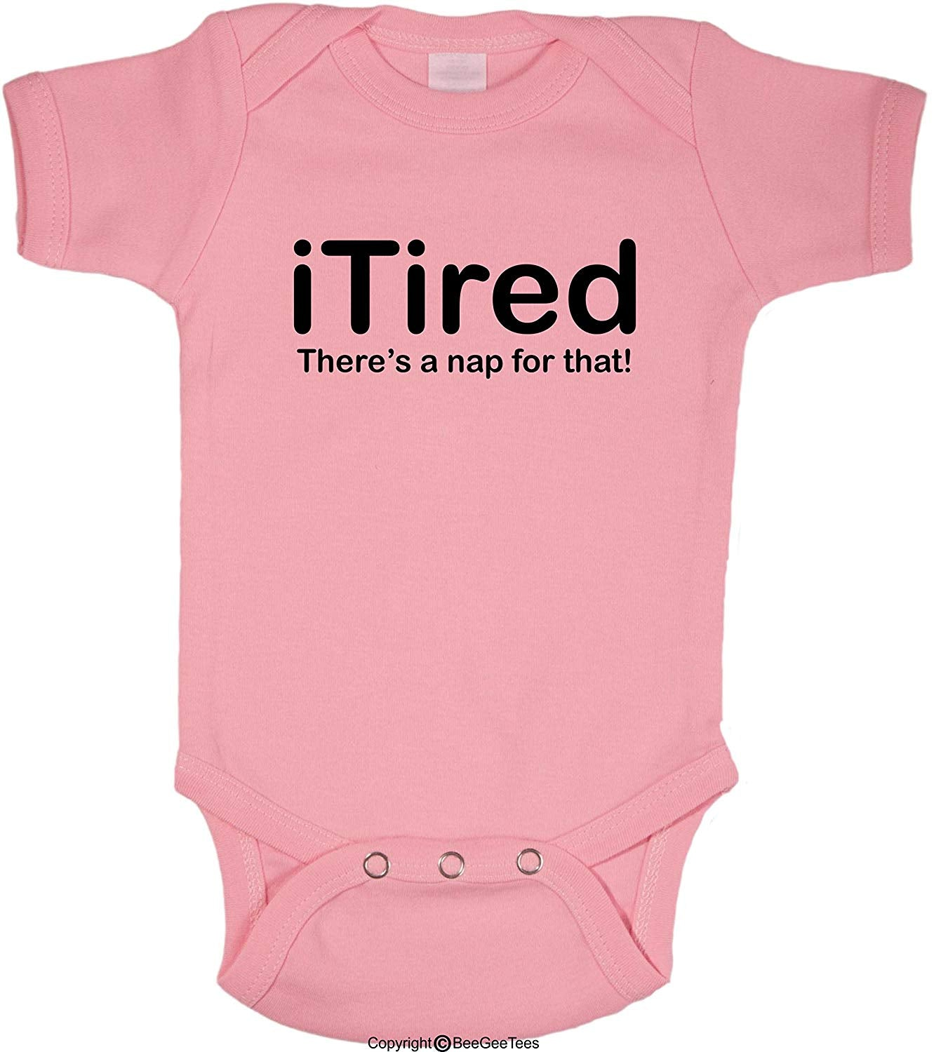 There's A NAP For That iTired iSleepy iBaby Funny Baby Bodysuit by BeeGeeTees