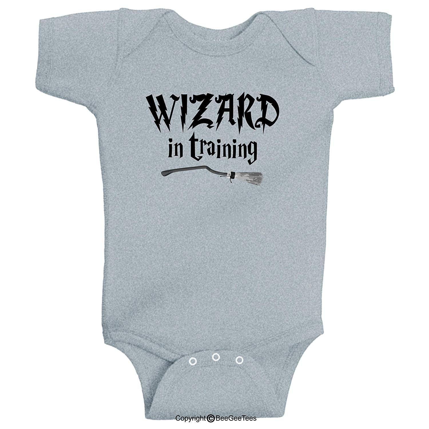 Wizard In Training Harry Potter Inspired Baby Bodysuit by BeeGeeTees