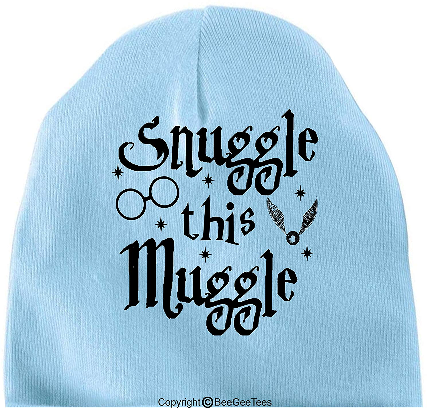 BeeGeeTees Snuggle This Muggle Funny Harry Potter Inspired Hogwarts Baby Wizard Cap