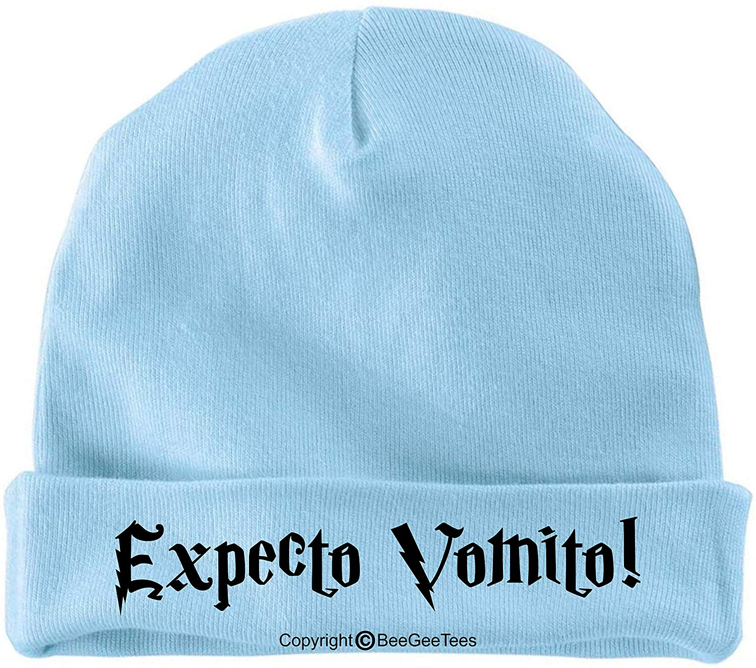 BeeGeeTees Expecto vomito Funny Harry Potter Baby Wizard Cap
