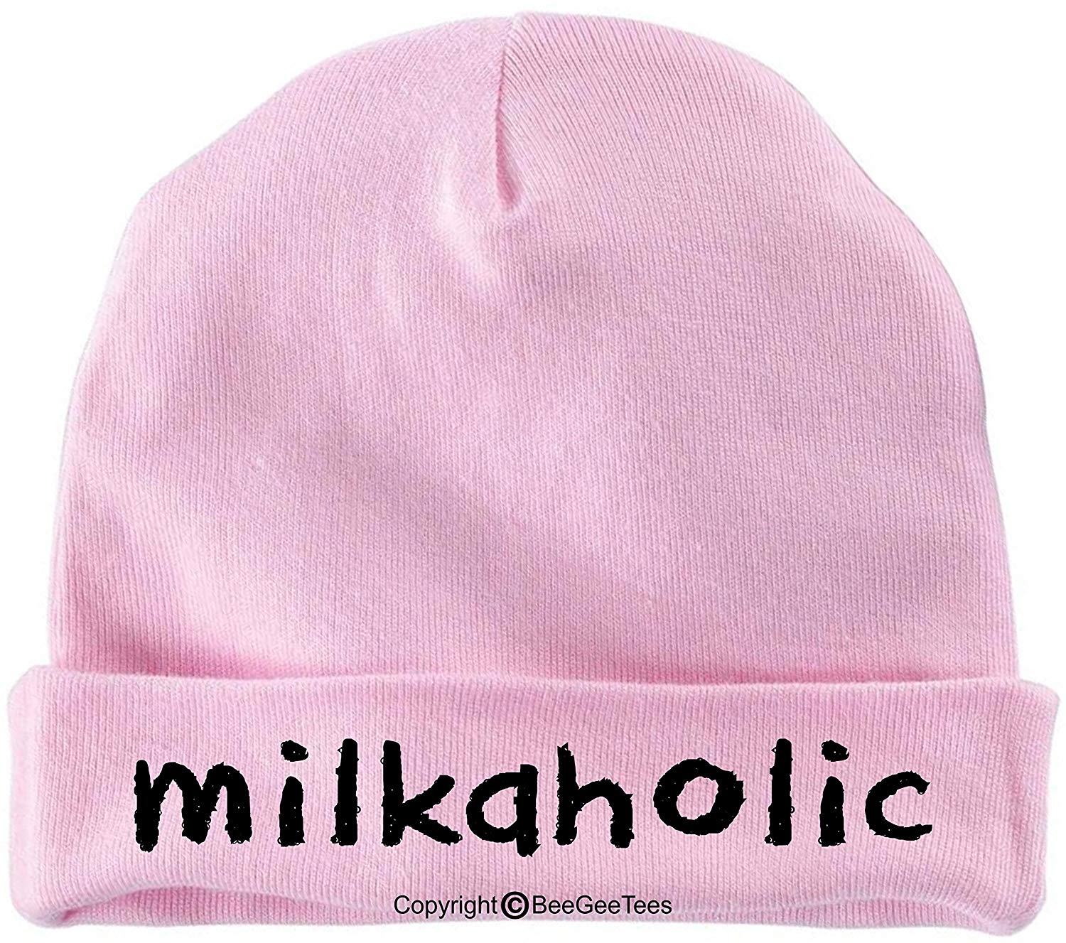 BeeGeeTees Milkaholic Funny Baby Cap Warm Cotton Infant Hat by