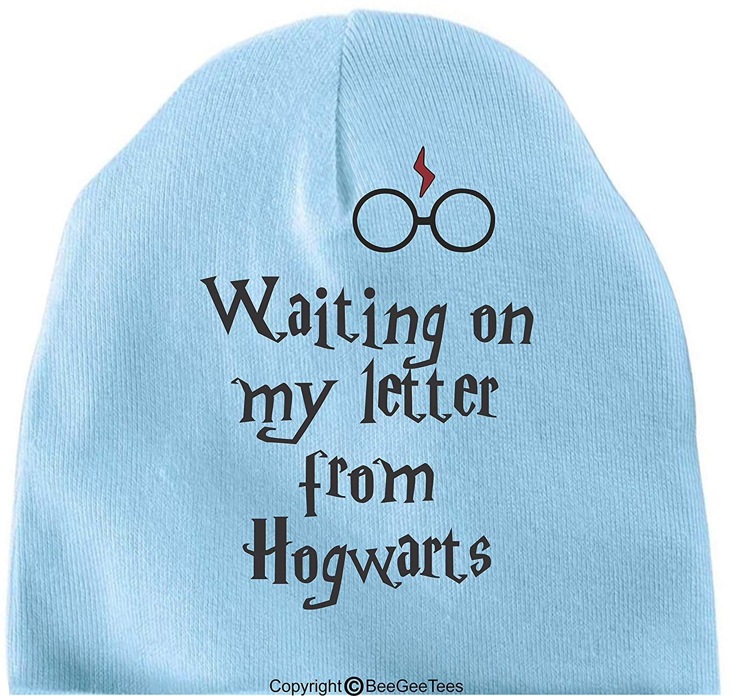 BeeGeeTees Waiting On My Letter Funny Harry Potter Inspired Hogwarts Baby Wizard Cap