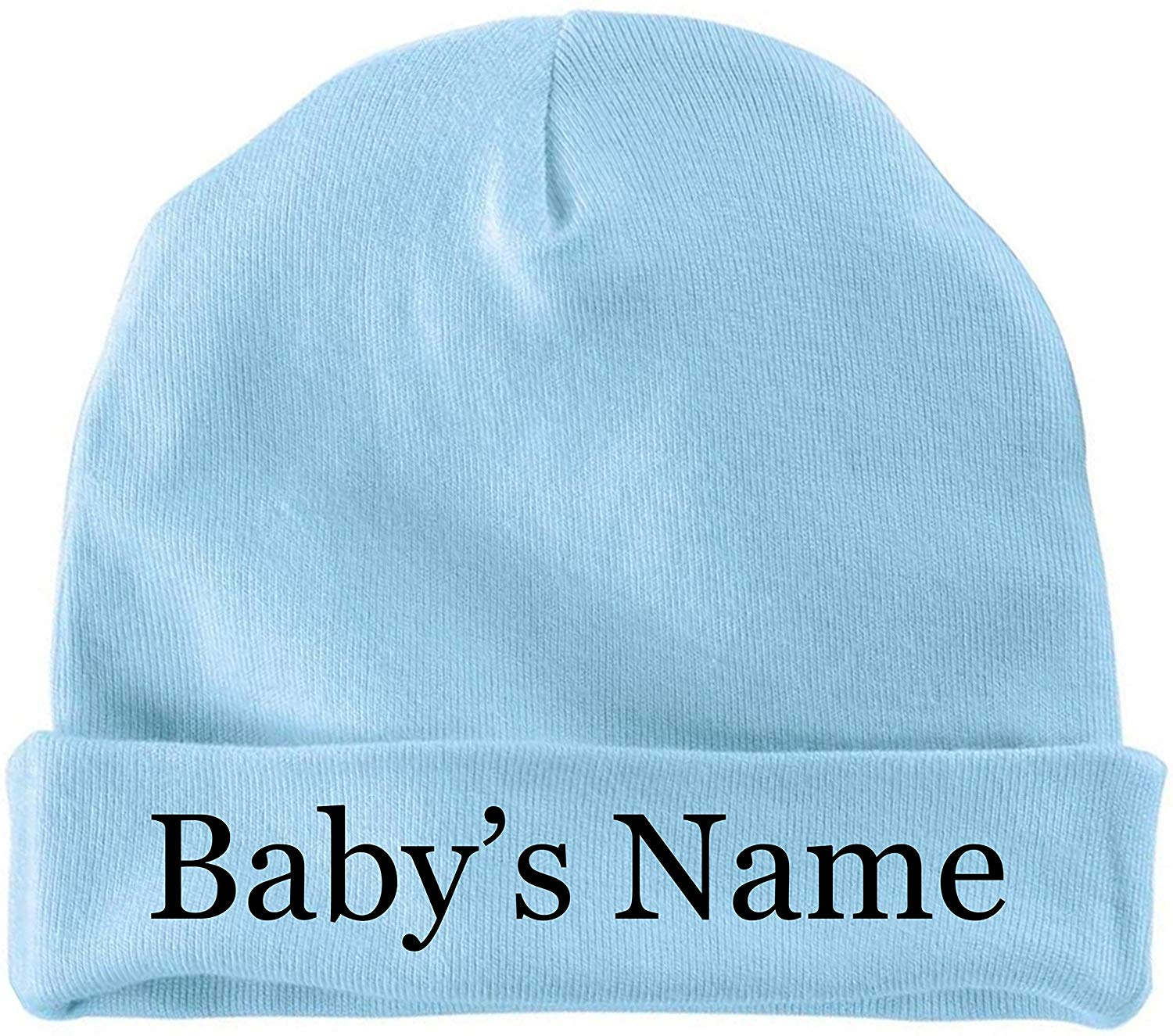 BeeGeeTees Personalized Keepsake Cap Custom Infant Hat For Baby With Baby Name Beanie by