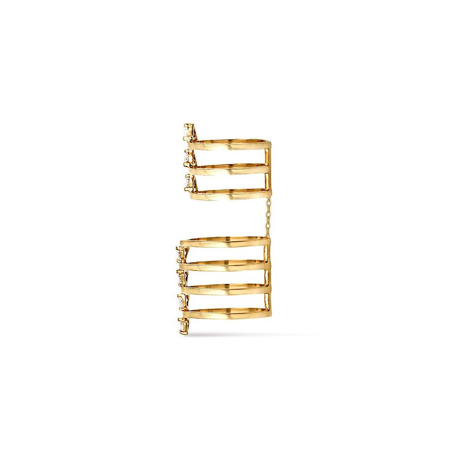 Side view in 18K gold vermeil layered ring from Camille Jewelry