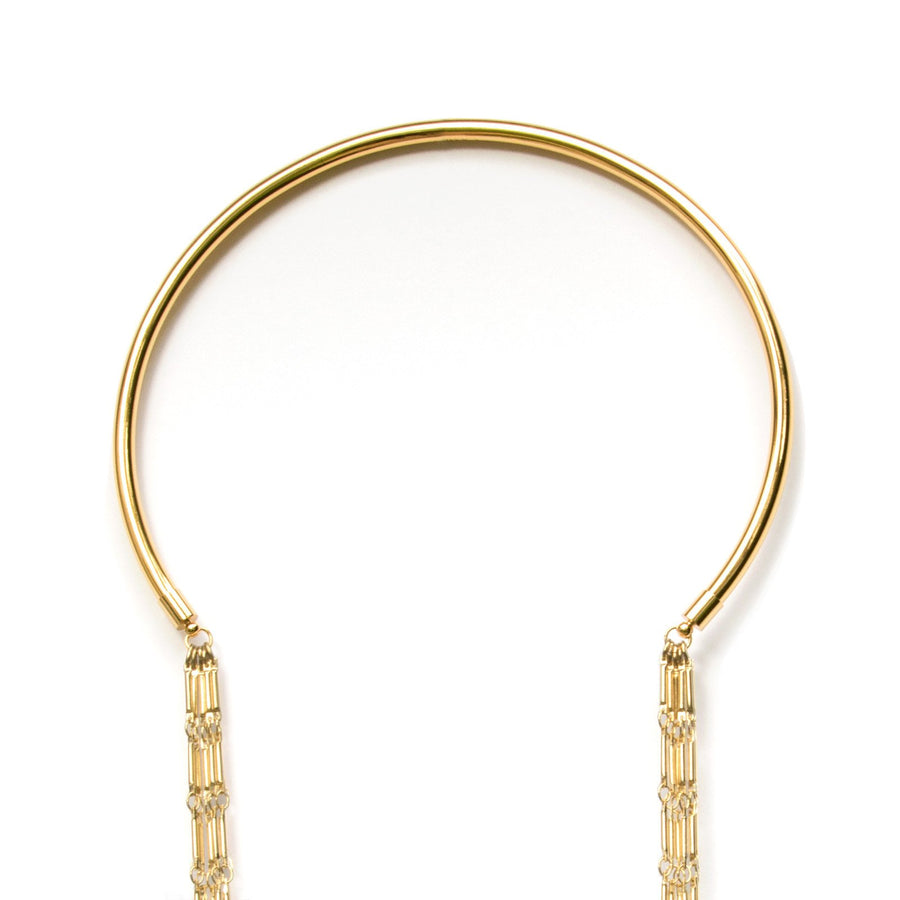 Half gold collar at Camille Jewelry. Free Shipping, USA