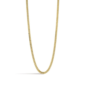 Camille Jewelry- Ares collection- Flat curb gold link chain necklace.