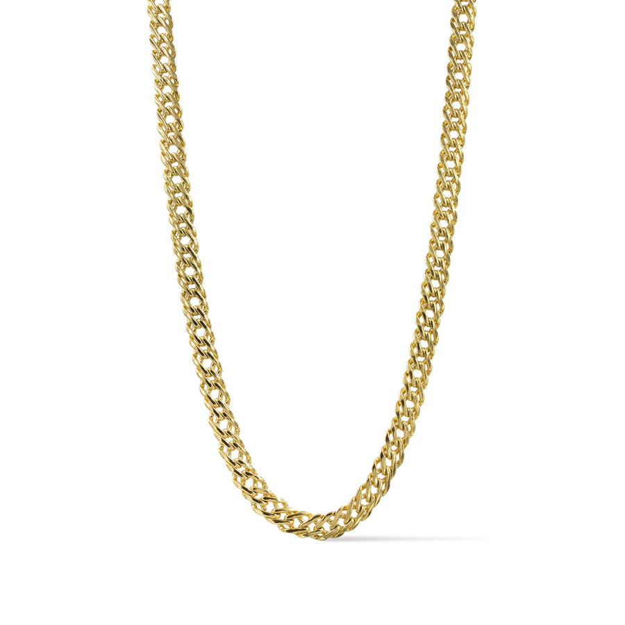 Camille Jewelry- Ares collection- Flat weave link gold chain necklace.