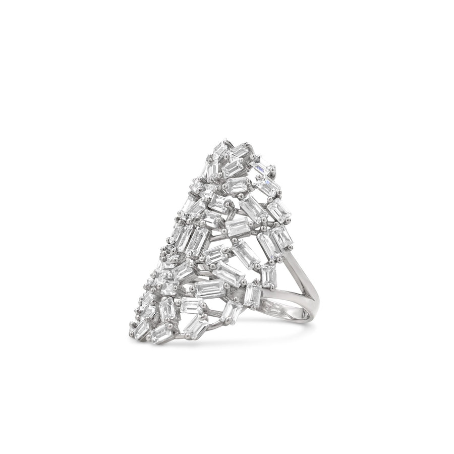 Camille Jewelry - Baguette cubic zirconia sterling silver ring