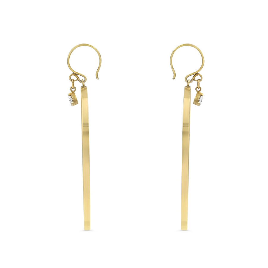 Camille Jewelry- 14K gold filled hoop charm earrings. Hand made in NYC. Free shipping with the USA