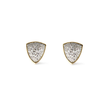 Shop Thyra concave pave trillion shaped large studs from Camille Jewelry. Free shipping USA