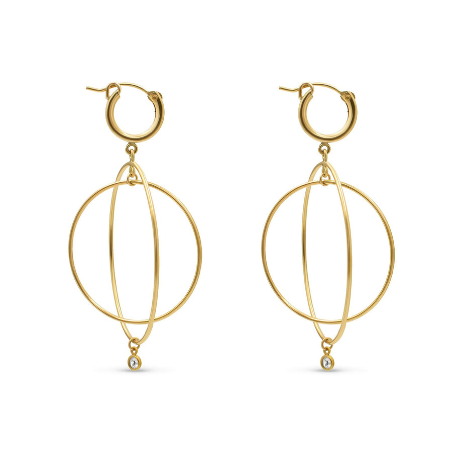 Gold Filled Double Hoop Huggie Earrings
