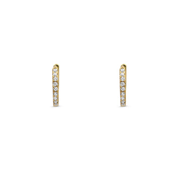 Camille Jewelry - Small pave hinged hoop earring in vermeil.