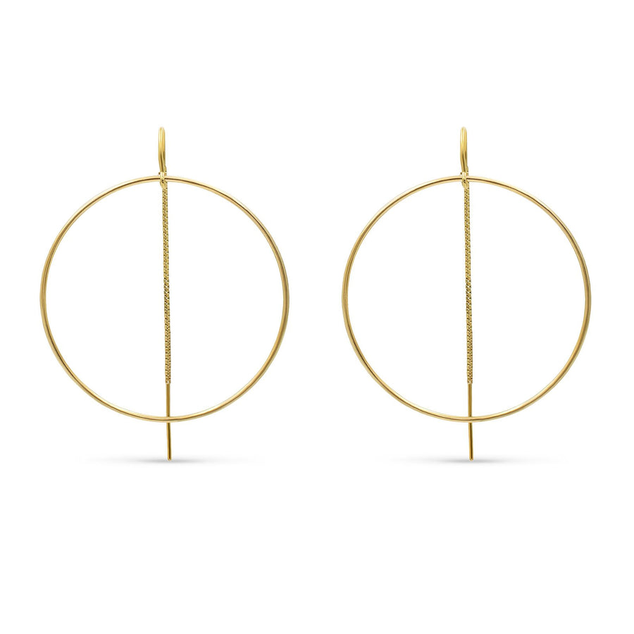 Camille Jewelry - Round disk with pull through design in 14K  gold filled