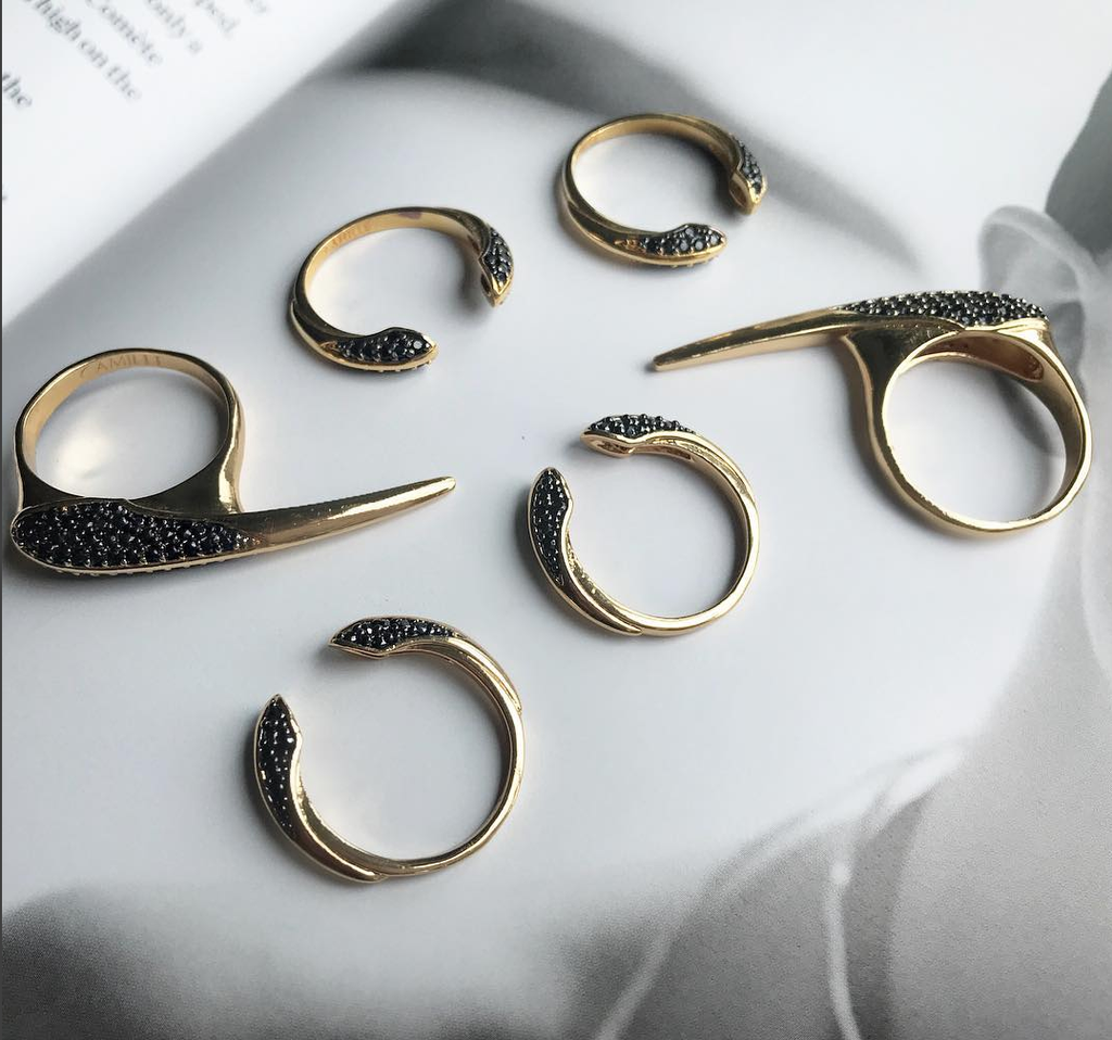 Camille Jewelry- The perfect balance of femininity and power. Crush rings!