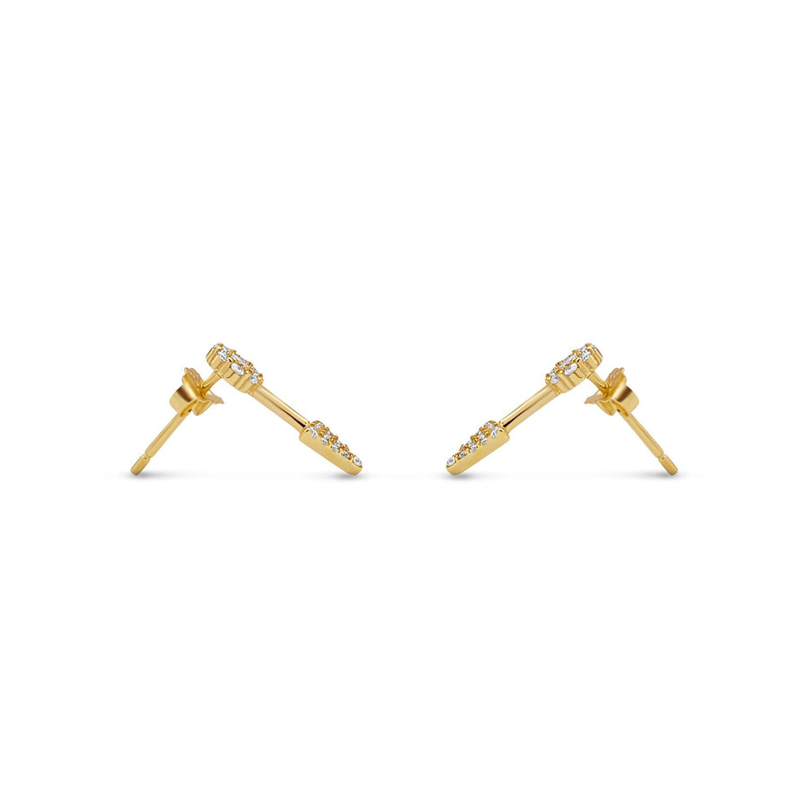 gold vermeil pave arrow stud earrings from Camille Jewelry