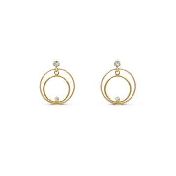 Camille Jewelry - Small double link stud earrings with glitz accents.