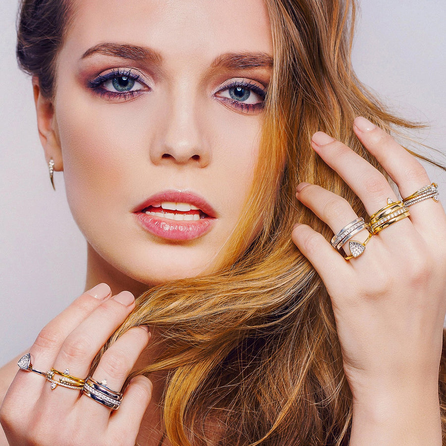 High end fashion rings from our campaign at Camille Jewelry