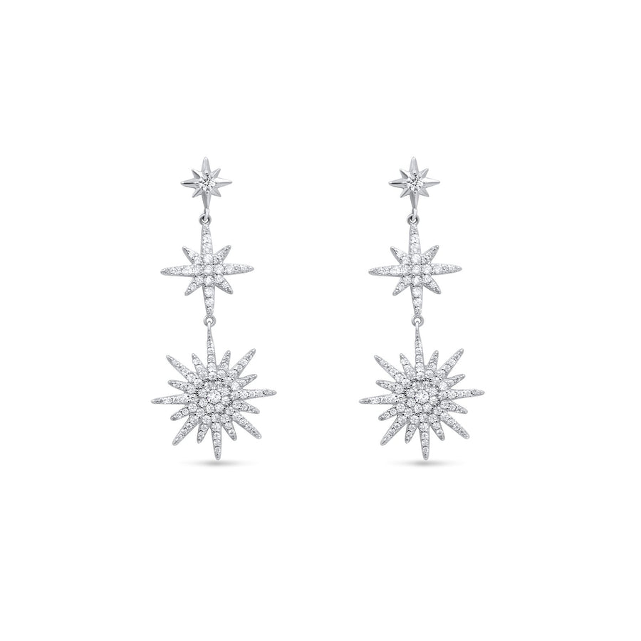 Camille Jewelry - Ready to ship sterling silver starburst statement earrings