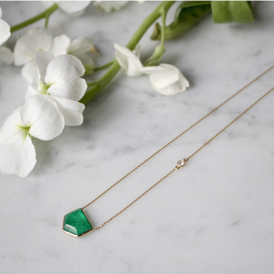 Shop 14K Gold and emerald necklace from our Fine Jewelry Collection | Camille Jewelry