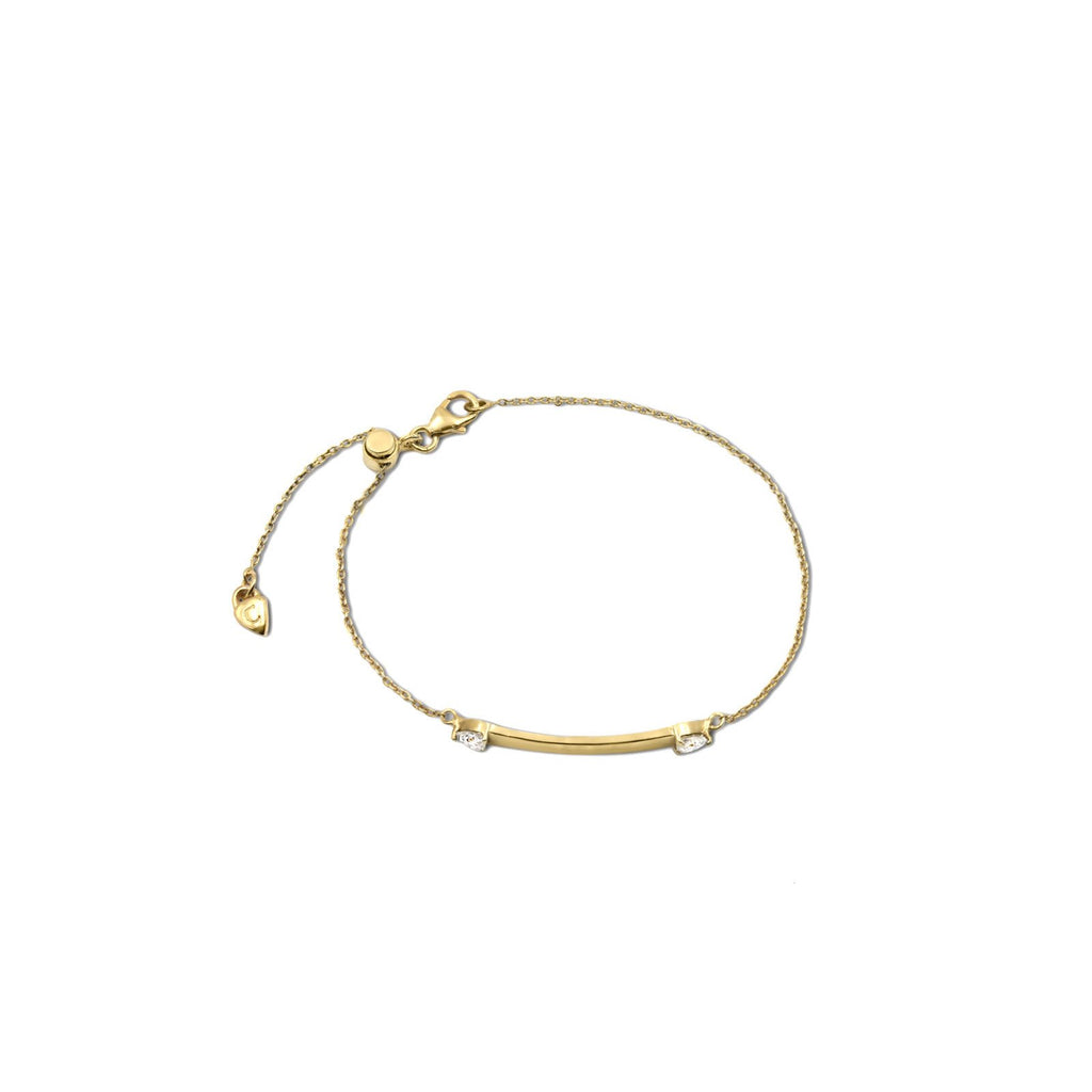 Camille Jewelry- Theia collection, 18 karat gold vermeil plaque bracelet. Engrave. Free Shipping USA