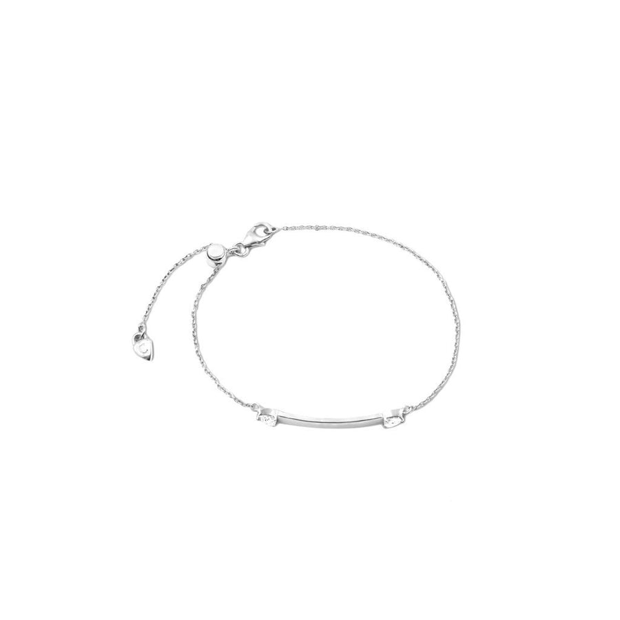 Rhodium plated sterling silver plaque bracelet. Side View.  Engrave. Free Shipping USA