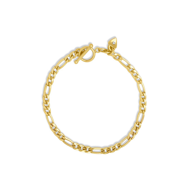 Gold Filled & Sterling Silver - Figaro Chain Bracelet 1
