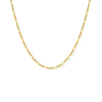 Camille Jewelry- medium figaro chain necklace