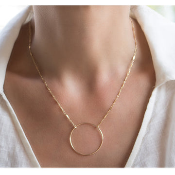 Shop Open Circle Gold Filled Necklace  at  Camille Jewelry