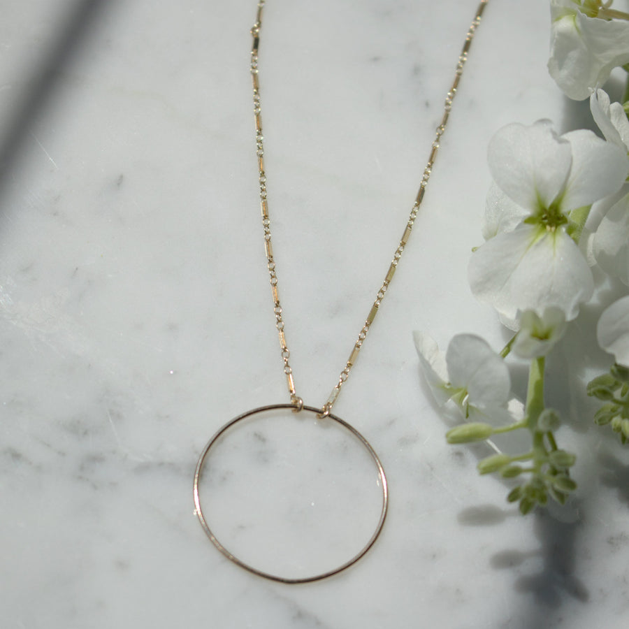 14K Gold Filled Disk Necklace | Free Shipping | Camille Jewelry
