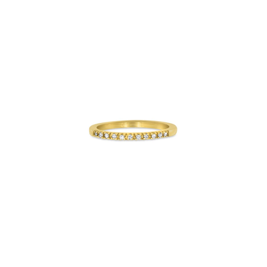 Camille Jewelry - Diamond pave band ring in 14 karat solid gold