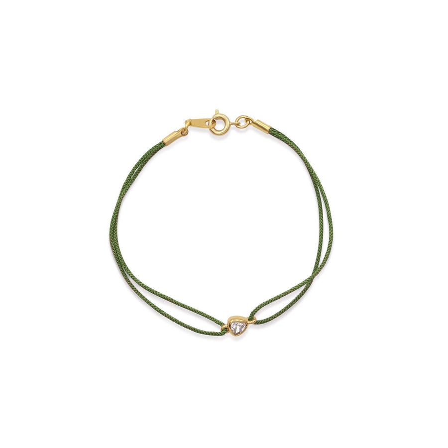 Fashion jewelry green color corded nylon bracelets from the Thyra Collection | Camille Jewelry