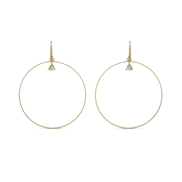 Gold Filled  - Charm Hoop Earrings 1