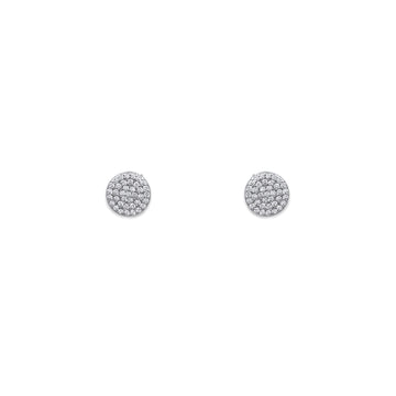 Mini Full Pave Stud Earrings