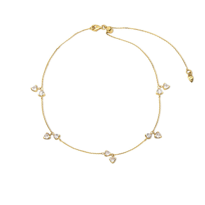 Camille Jewelry- Theia collection, 18 karat gold vermeil trillion charm delicate necklace with adjustable length. Free shipping USA