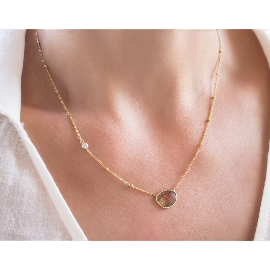 Shop Handmade Tourmaline Necklace | Gold Filled | Camille Jewelry