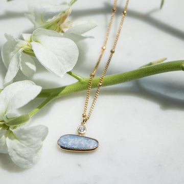 Opal doublet necklace Jewelry | Gold Filled | Camille Jewelry
